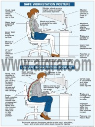 """Correct Posture Poster 18"""" X 24"""" Poster"""