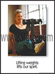 Lifting Weights Poster