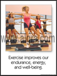 Exercise Improves Our Lives Poster