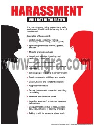 "Harassment Will Not Be Tolerated Poster 18"" X 24"" Poster"