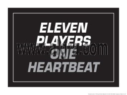 "Eleven Players One Heart Beat  18"" x 24"" Laminated Motivational Poster"