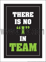 "There is no I in Team 18"" x 24"" Laminated Motivational Poster"