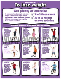 Lose Weight with Exercise Poster