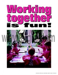 Working Together is Fun Poster