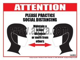 "Social Distancing Poster 12"" x 16"" Laminated"