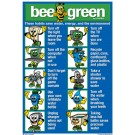 "Bee Green Poster 8.5"" x 12"" English on one side and Spanish on the other"