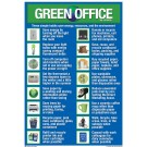"Green Office Poster 11"" X 16"" English on one side and Spanish on the other"