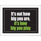 "It's not how big you are it's how big you play 18"" x 24"" Laminated Inspirational Poster"