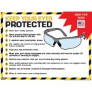 """Keep Your Eyes Protected 18"""" x 24"""" Laminated Poster Safety Glasses"""