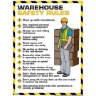 Warehouse Safety Rules Poster