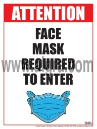 """Mask Required Poster 12"""" x 16"""" Laminated"""