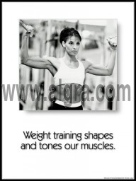 Weight Training Poster