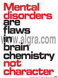 "Mental Disorders 18"" x 24"" Laminated Poster"