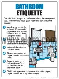 "Bathroom Etiquette V2 Poster 12"" X 16"" Poster"