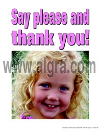 Say Please and Thank You Poster