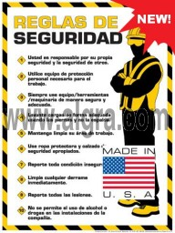 Workplace Safety (Spanish) Rules Poster