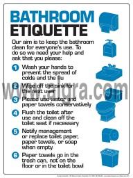 "Bathroom Etiquette Poster 12"" X 16"" Poster"