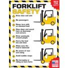 Forklift Safety Rules Poster