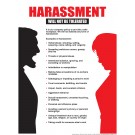 """Harassment Will Not Be Tolerated Poster 18"""" X 24"""" Poster"""